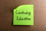 Post-It Note with Continuing Education