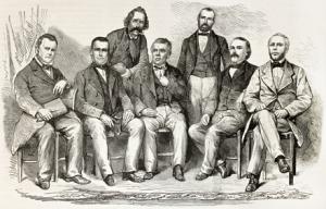 Sketch of Seven Men